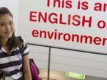 教室以外も英語環境になっています。